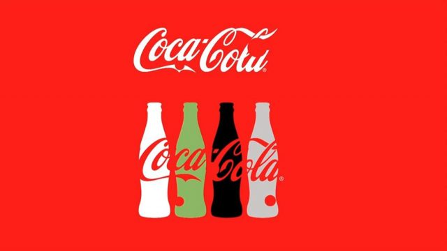 Coca Cola 2d Image of bottles with text over