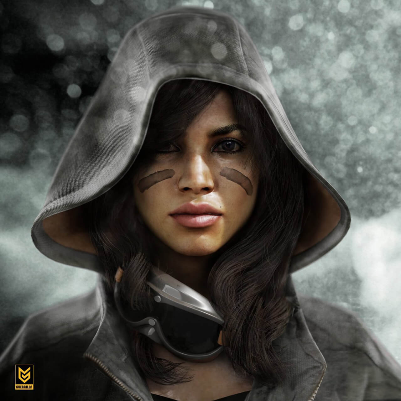 Computer generated female character for video game