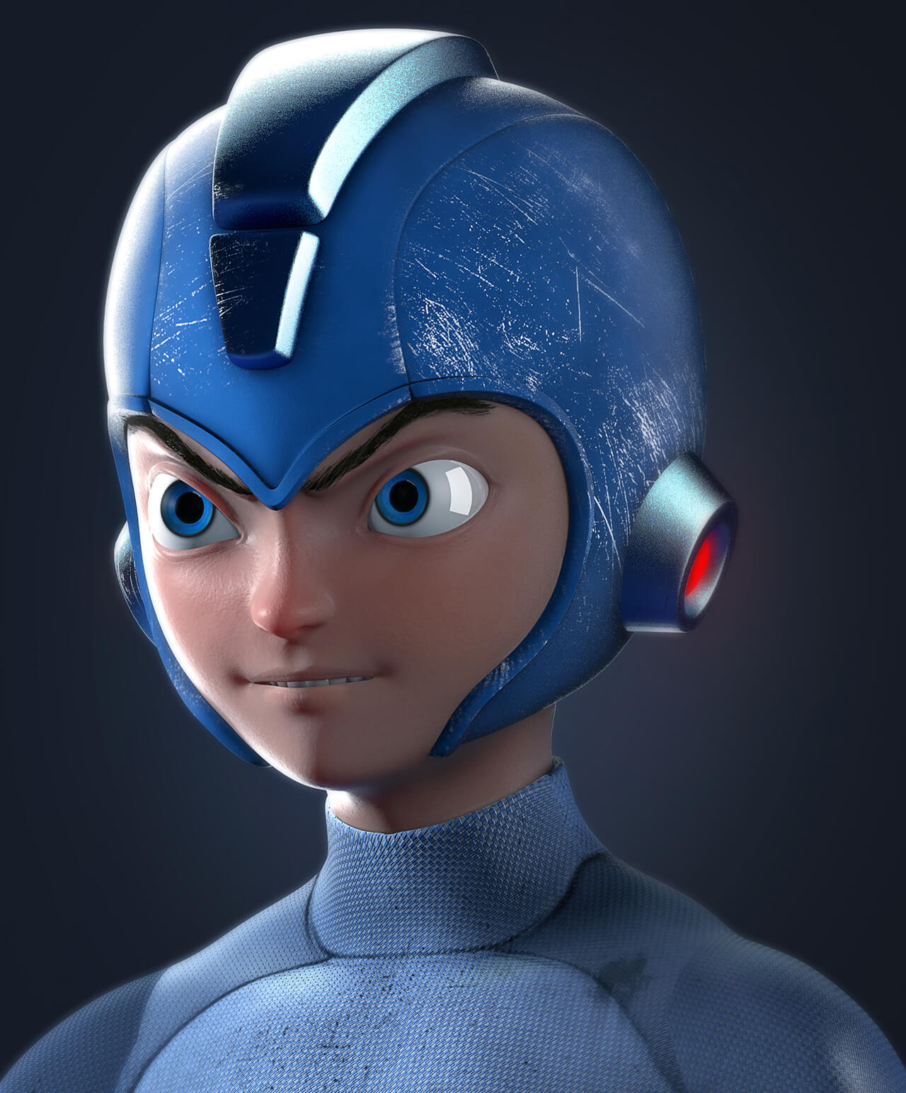 Computer generated image of a space cadet