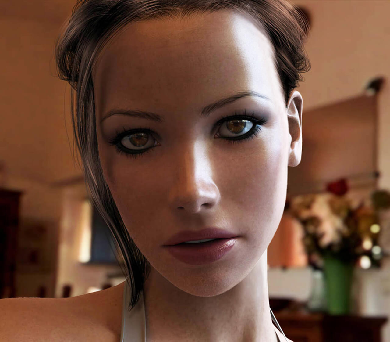 Computer generated image of girls face