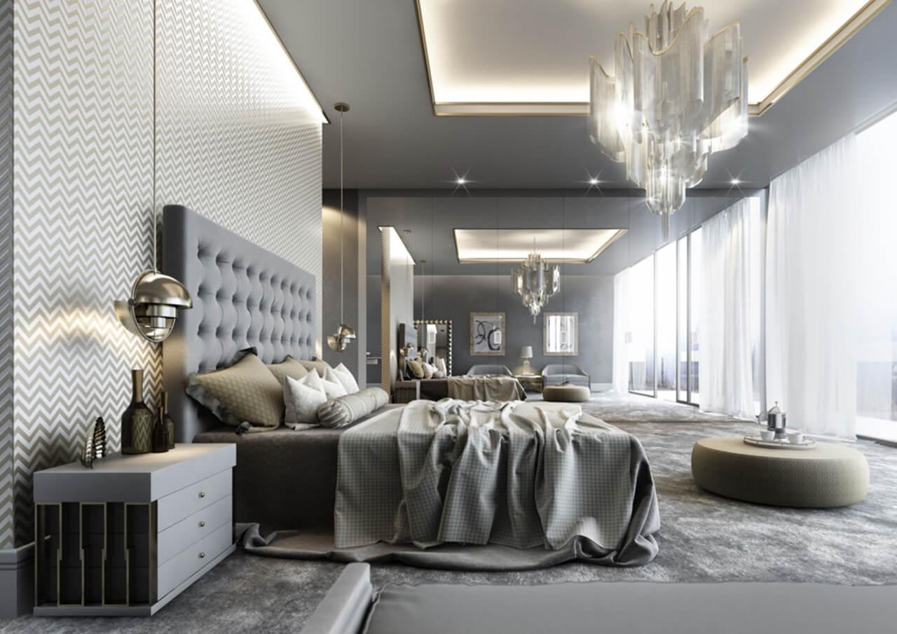 Designer Luxury Bedroom: Luxury Master Bedroom CGI