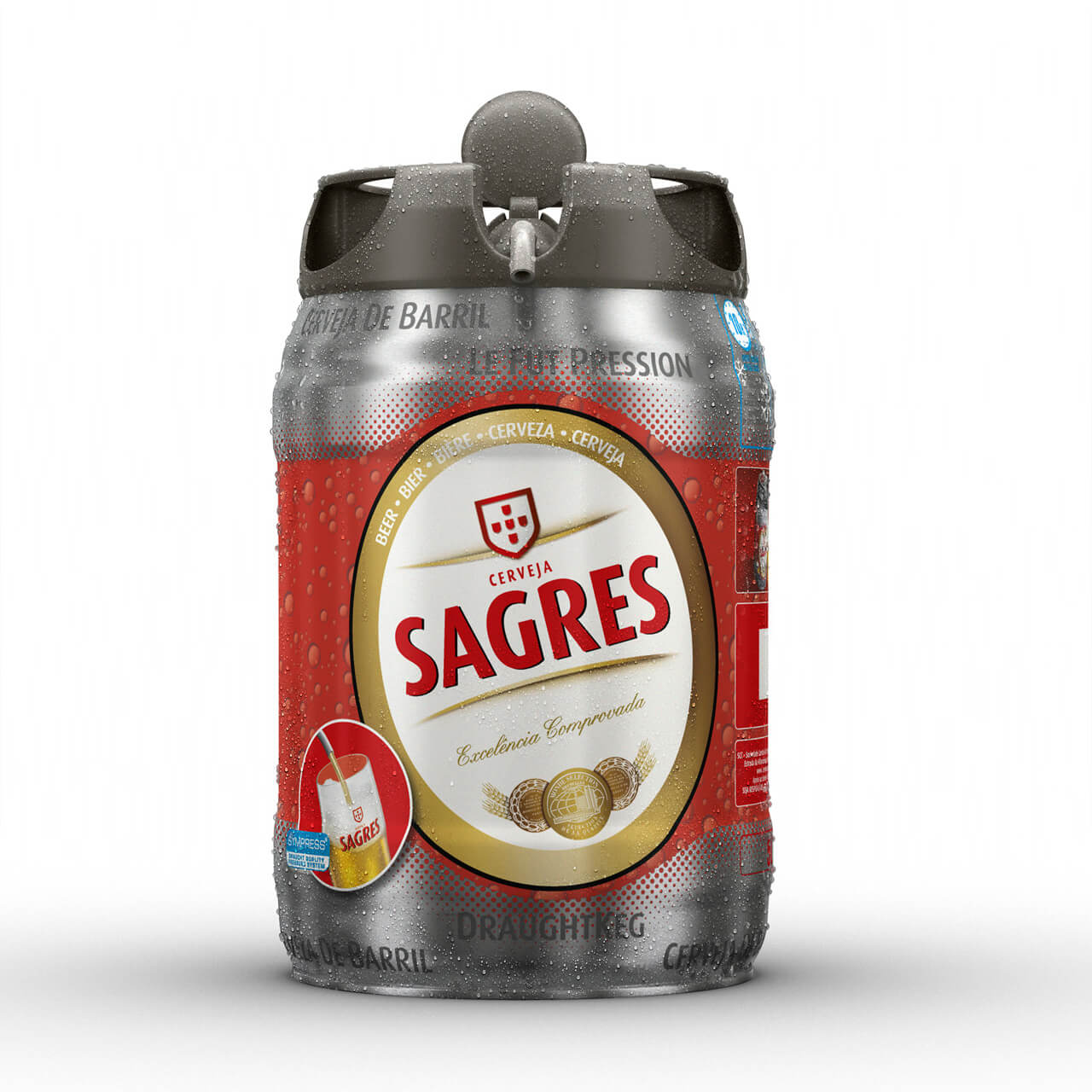 CGI Product Image of Lager barrel