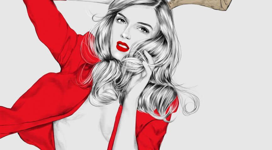 Fashion Christmas Campaign Illustration