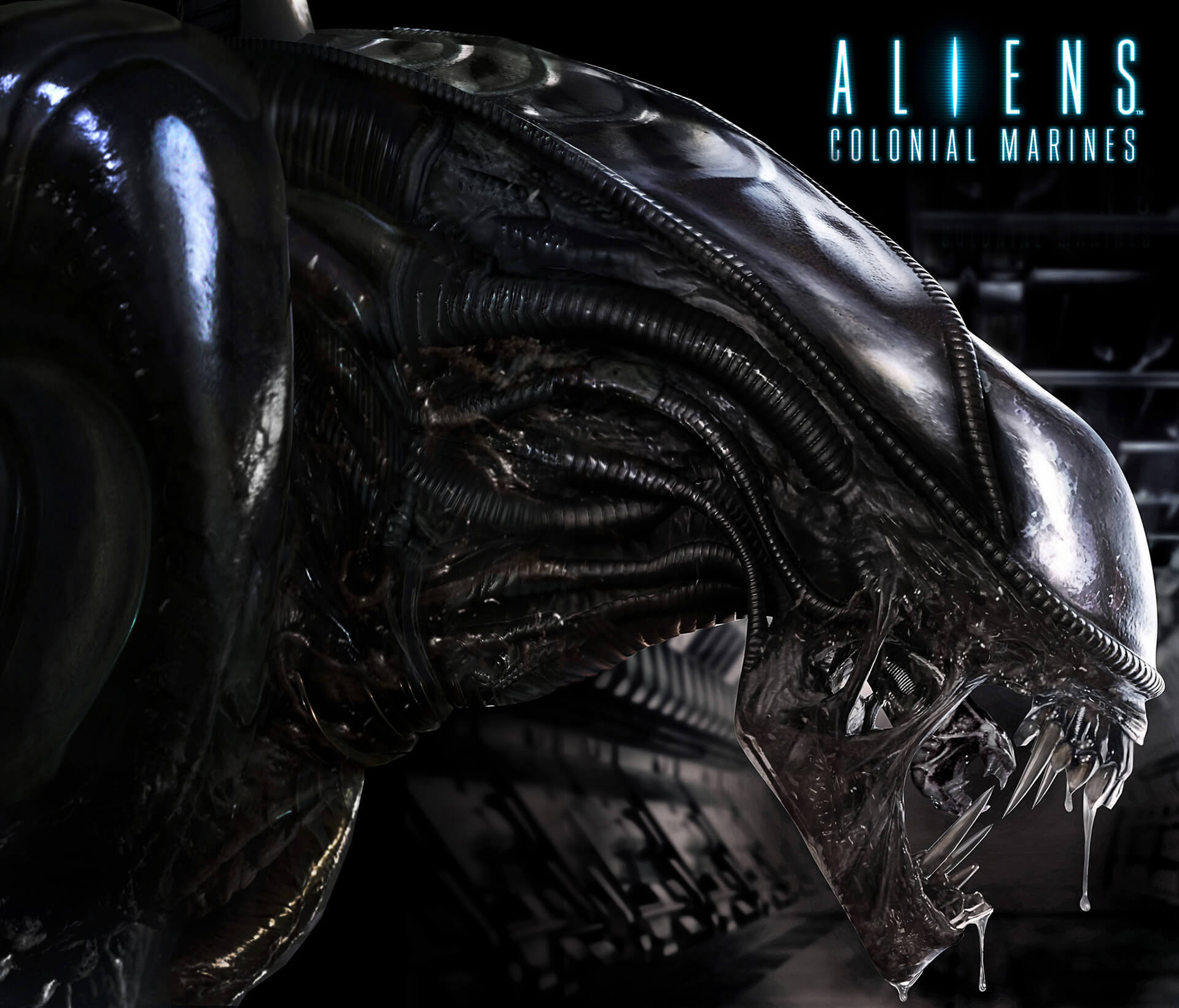 cg rendered model of the alien 3d character created for sega to be used on game packaging for alien colonial marines