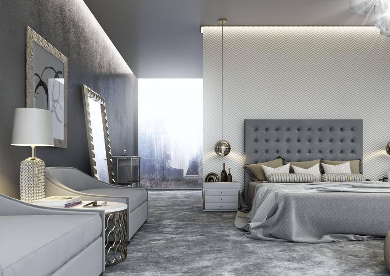 3D Architectural Rendering Of Bedroom