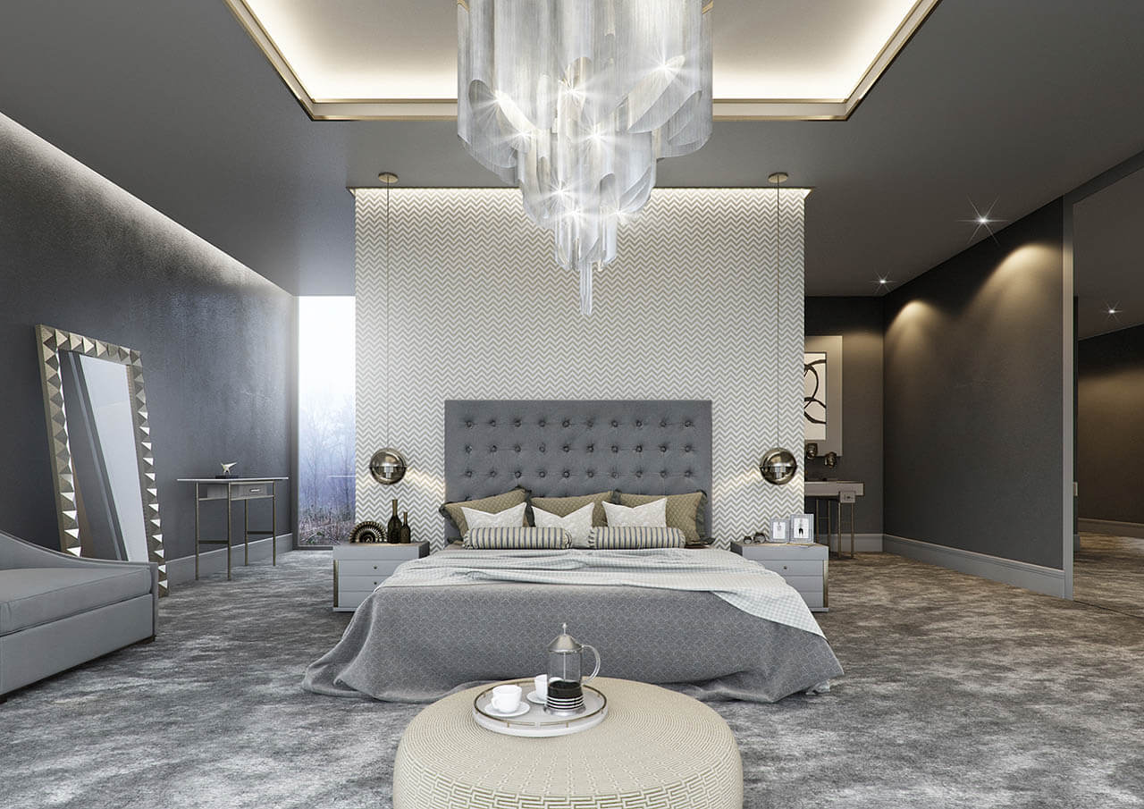 Stunning Computer generated image of bedroom interior