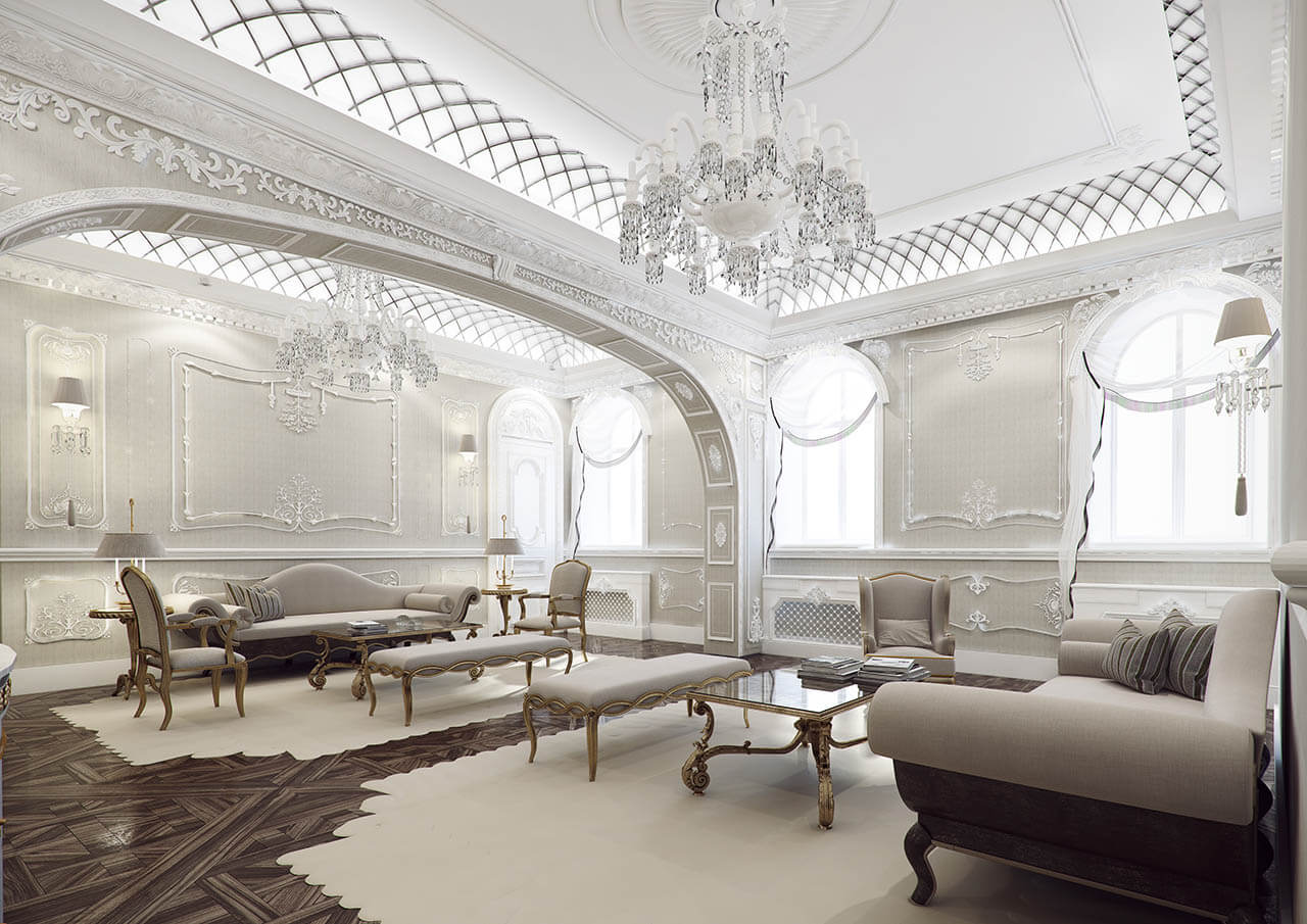 Beautiful Living Room Render