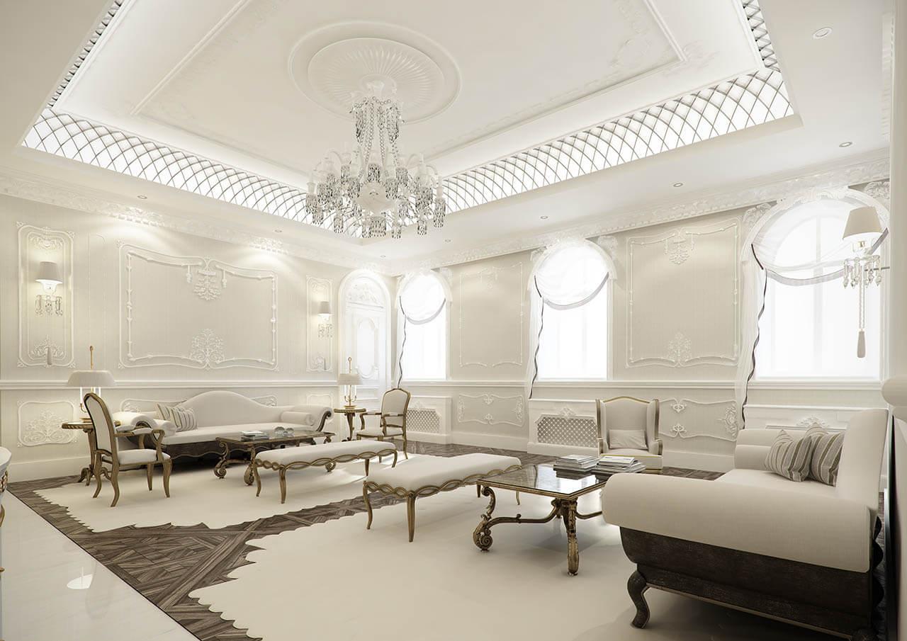 Interior Living Room Render With Fine Detailing
