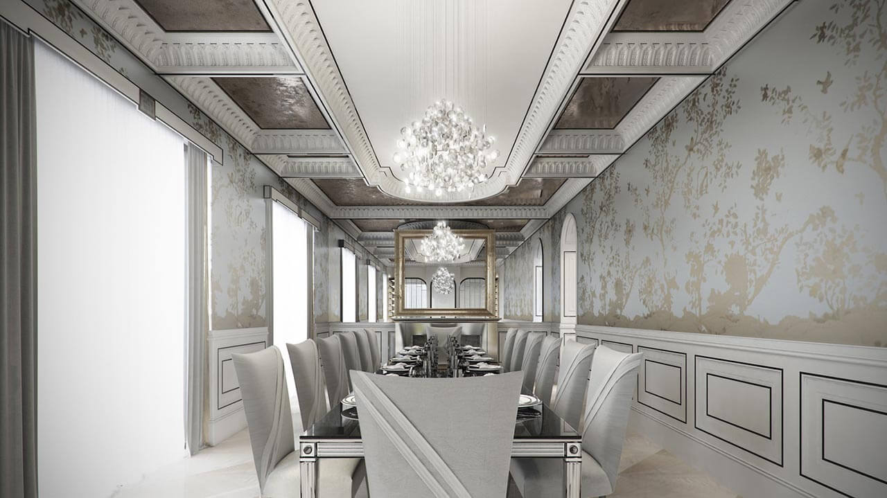Elegant CG Rendered Dining Room