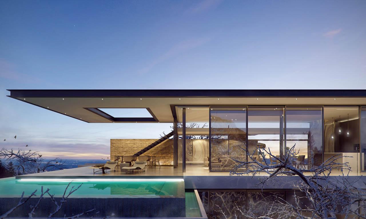Futuristic Pool House Image