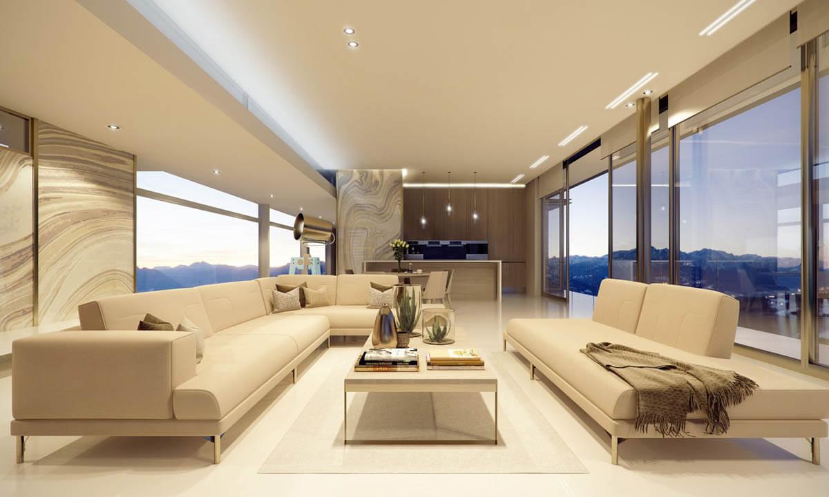 Render Of Futuristic Building Interior