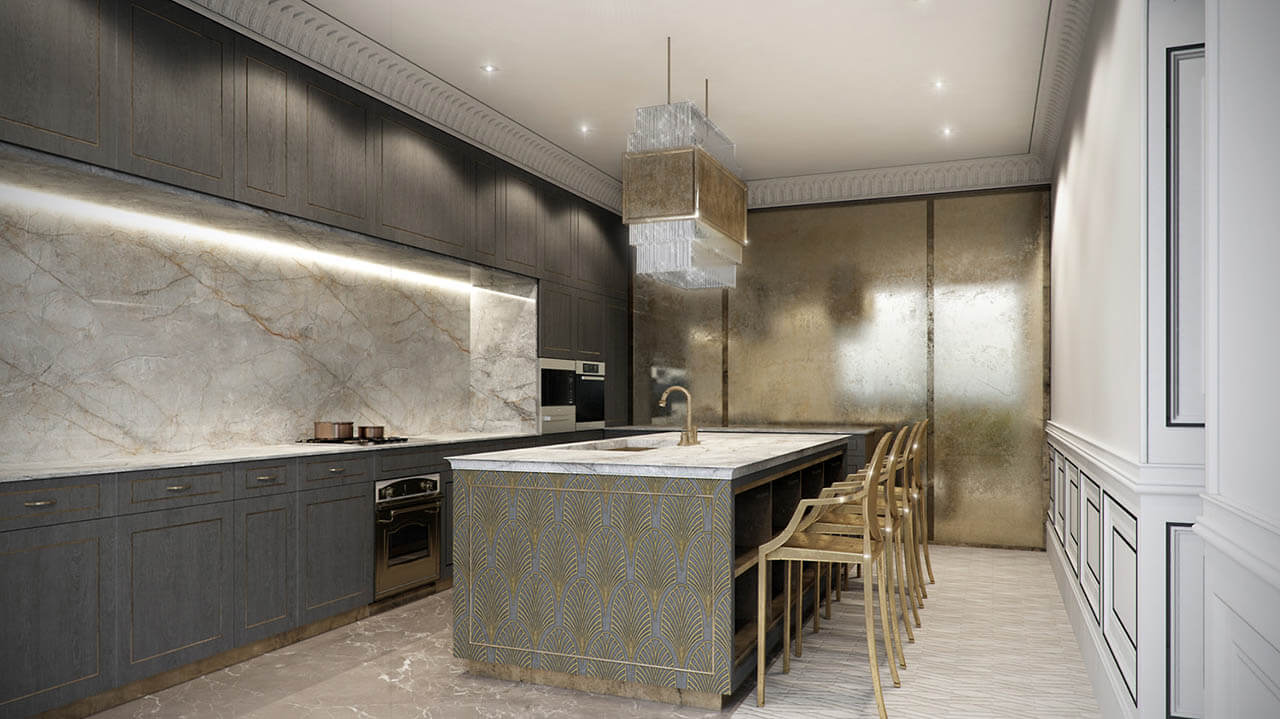 Interior Modern Kitchen Render