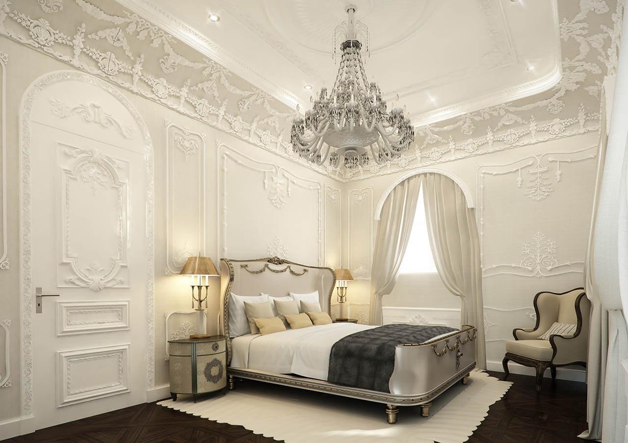 Exquisite Rendered Bedroom with fine detailing