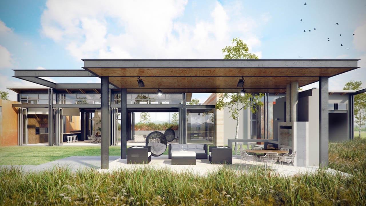 CG Render Ultra Modern living Space