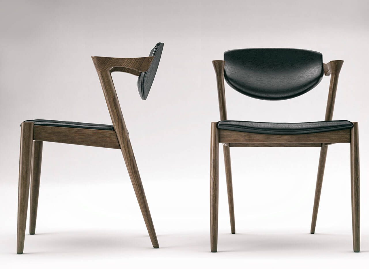 Front and Side view Of Designer Chair Product Visualisation