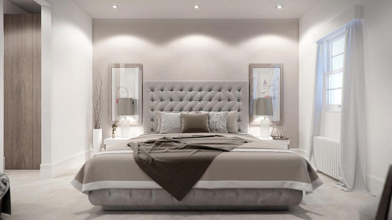 Contemporary Interior Bedroom Render