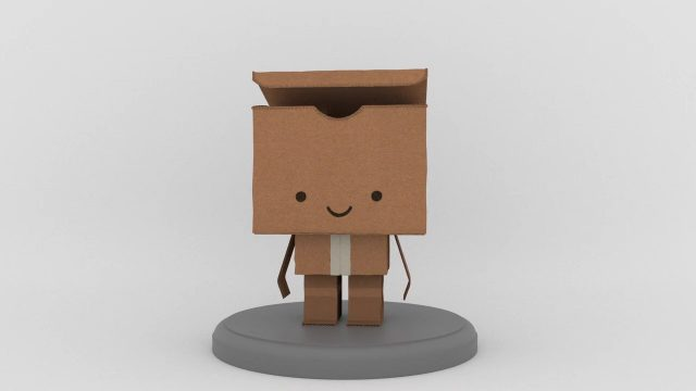 Paper and Packaging - Box Character Turntable