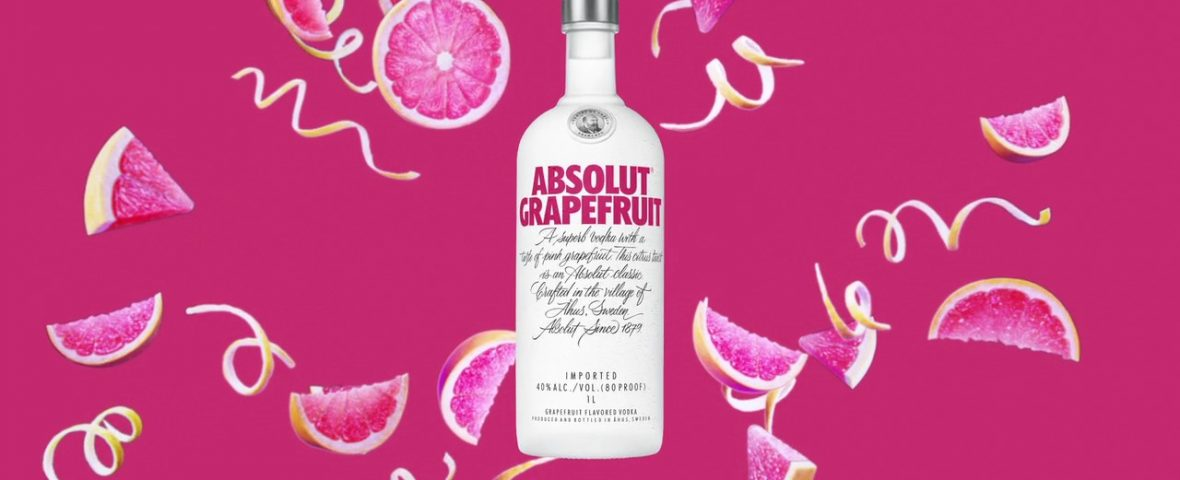 Absolut Grapefruit Vodka Digital Six Sheet
