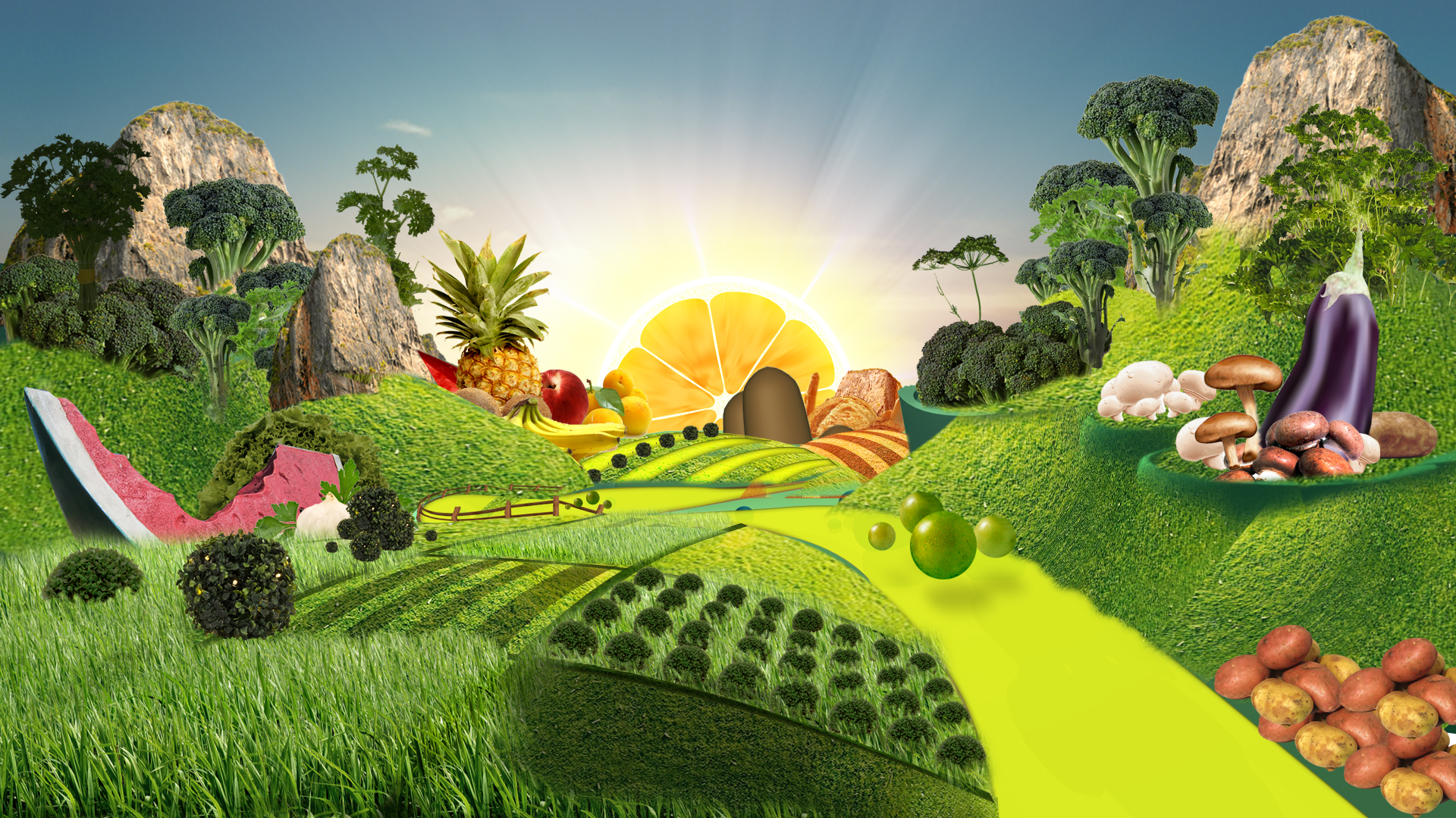 Ocado Advert 3D Previz Food Journey
