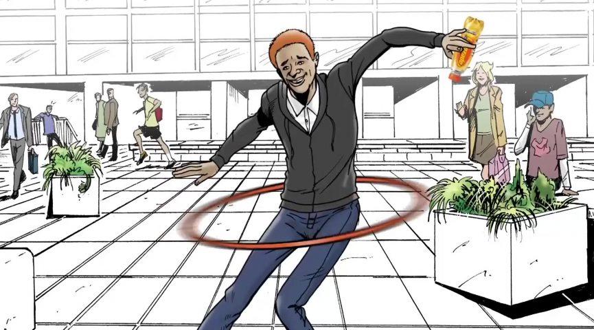 Lucozade Energy - It's On Hula TV Ad Animatic