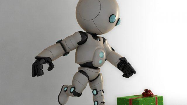 Christmas Robot Illustration