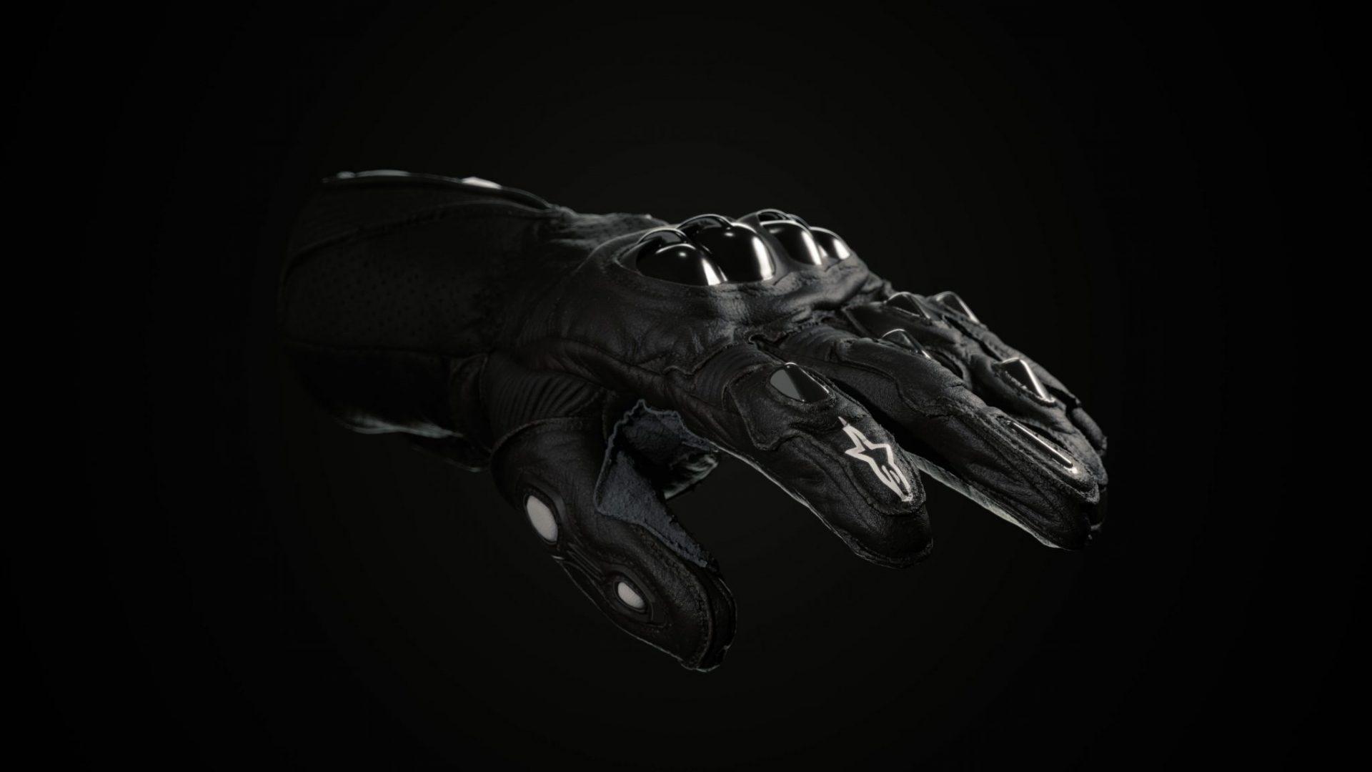 Alpinestars_glove scan perspective -black 2